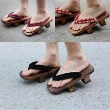 New Japanese Women Men Geta Bidentate Flip Flops Wodden Sandals Slippers Shoes