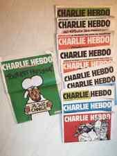 LOT CHARLIE HEBDO x11 n°1178 à 1188  journal satirique charlie hebdo  11 numéros