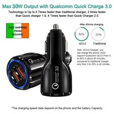 Quick Charge 3.0 Car Charger 2 Ports USB Qualcomm QC Fast Dual Adapter For Phone