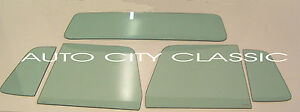 1956 Ford F100 Pickup Glass Vent Door Rear Back Set Green Tint