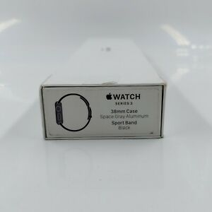 Apple Watch Series 3 GPS 38mm Space Gray Aluminum Case with Sport Band - Black