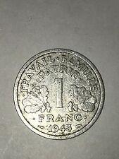 Pièce Ancienne - 1 Francs Bazor 1943 - Ancient French 1 francs coin