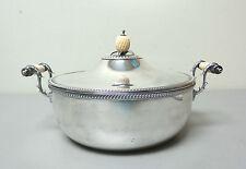 Antique Silver Plate 3-Piece Buffet Server w/ Bone Handles & Pineapple Finial
