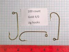 100 count gold 4/0 Jig Hooks,  640 M     ? eagle claw ?