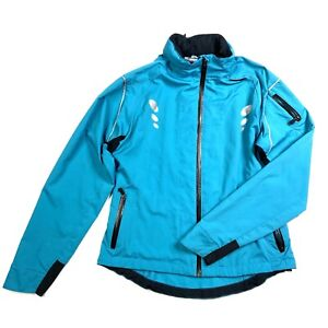 Sugoi Women's Bike Jacket Turquoise Blue Packable Hood S