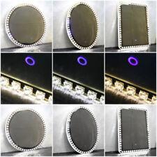 LED Illuminated Bathroom Mirror Sensor Button Venetian Diamond Round Rectangle