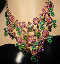 BETSEY JOHNSON GARDEN OF EXCESS BLING ROSES STATEMENT NECKLACE