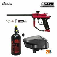 Maddog Azodin Kaos 2 HPA Paintball Gun Marker Package A Red