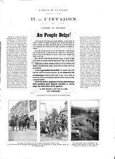 Uhlan Cavalery Deutsches Heer à Spa Liège Belgium Belgium 1914 WWI ILLUSTRATION