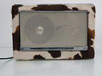 Vintage Bush TR130 Retro FM/MW/LW Radio with Faux Cow Skin Covering