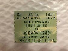 Michael Jordan/Toronto Raptors ticket stub