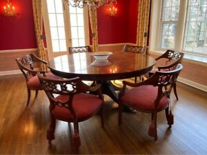 """Baker Furniture English Regency Style """"Capstan"""" Dining Table. [Accepting offers]"""