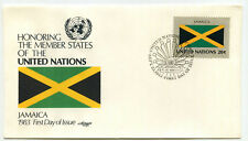 United Nations #405 Flag Series, Jamaica, Artmaster, FDC