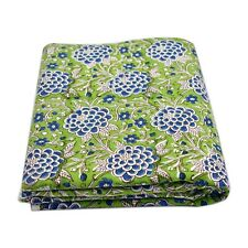 Indian Hand-Dyed Block Printed 100% Cotton Voile Fabric Sewing Material 10 Yard
