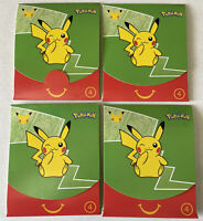 NEW Lot of 4 Sealed Pokémon Card Packs from McDonald's 2021 25th Anniversary