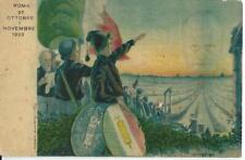 FASCISMO PROPAGANDA MARCIA SU ROMA 1922 ILLUSTRATORE MUGGIANI