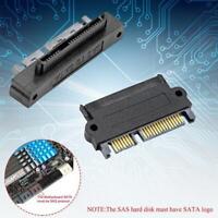 SFF-8482 SAS To SATA 22 Pin 180 Degree Angle Hard Disk Adapter Converter F8N2