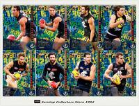 2016 Select AFL Footy Stars Trading Cards Hot Number Full Team Set (8)-Carlton