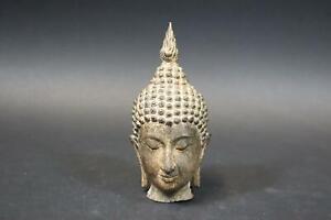 Buddha Kopf Bronze Figur Thailand (DJ203)