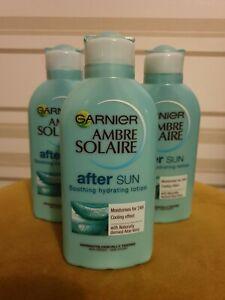 2 x Garnier Ambre Solaire After Sun Lotion Aloe Vera 3 x 200ml  = 600ml