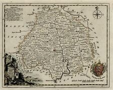CA. 1770 MAP OF THE COUNTY OF HEREFORDSHIRE - THOMAS KITCHIN - HC. - COPPERPLATE