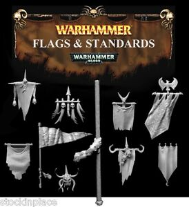 GAMES WORKSHOP Warhammer FLAGS & STANDARDS Free UK Postage