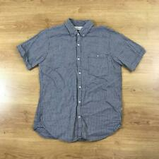 Edwin Japan Short Sleeved Blue White Casual Shirt Medium M Check Patterned