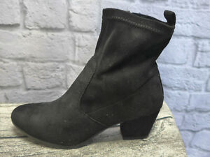 Sheego Ankle Boots Court Shoes Size 38 Black Tone New (503)