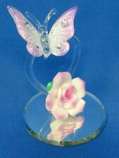 Glass Baron ~ Violet Heart Butterfly Figurine