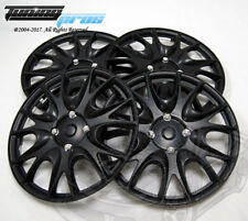 "Hubcap 14"" Inch Wheel Rim Skin Cover 4pcs Set Matte Black -Style 533 14 Inches-"