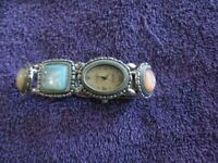 Gorgeous Ecclissi Sterling Silver Case & Band MOP Dial Ladies Watch