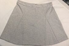 NWT Michael Kors Women's Gray/White Striped Short Casual A-Line Skirt Size 8