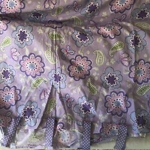 Lavender Paisley Flower Butterfly Cotton POTTERY BARN Kids Samantha Twin Duvet