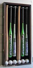 6 Baseball Bat Display Case, UV PROTECTION, Lockable, Mahogany, B66(UV)-MAH
