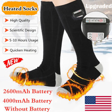Electric Wrapped Heating Socks Boot Feet Warmer USB Rechargable Battery Socks CA