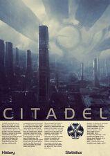 "Mass Effect 2 3 4 Game Fabric poster 36"" x 24"" Decor 127"