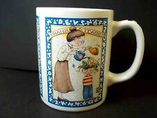 Mary Engelbreit coffee mug Thank A Teacher checkered handle 12 oz