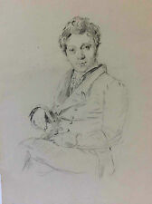 François Forster 1790 1872 superbe fusain d'après une oeuvre de Ingres 1825