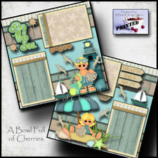 By the sea 2 premade scrapbook pages paper printed vacation beach by cherry