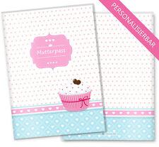 Mutterpass Hülle 3-teilig Mutterpasshülle Schwangerschaft Cupcake Motiv Herzchen