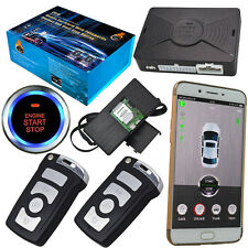 New listing smart phone app remote start car alarm auto central lock gps real time location