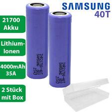 2 x Samsung INR21700-40T Li-Ion 4000mAh 35A 3,6-37V Akku mit Box Lithium Accu