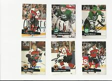 91/92 Pro Set Autographed Hockey Card Kevin Dineen Hartford Whalers