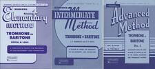 Rubank Elementary Method and Rubank Intermr/Adv Method - Trombone, 3 Book Set