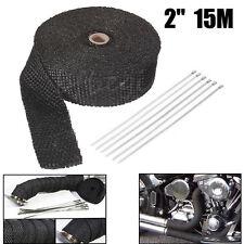 15mx50mm Hitzeschutzband Auspuff Band 1200° Hitzeschutz Krümmer Motorrad Schwarz