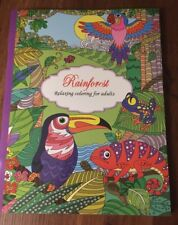 Adult Coloring Book Rainforest 24 Intricate Designs One Sided Perforated Pages