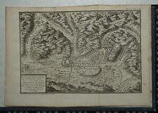 1766 antique map of Nordlingen 1645-Louis de Bourbon, Prince de Conde.