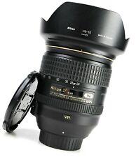 Nikon AF-S 24-120mm F4G VR ED OBIETTIVO ZOOM AUTOFOCUS IF + entrambi i tappi + Hoo