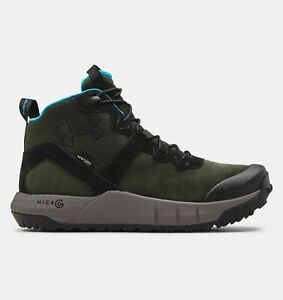 Under Armour UA Micro G Mid Leather Waterproof Tactical Boots 3024334 Black