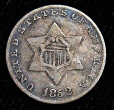 1852 3 Cents Silver